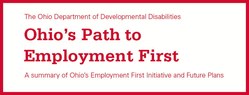 Ohio's Path to Employment First